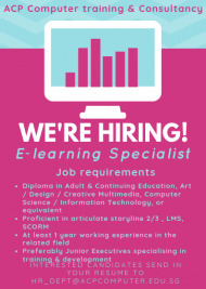We are Hiring! E-learning Specialist